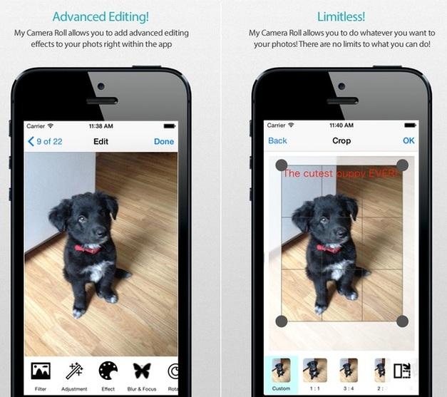 My Camera Rool app for iOS