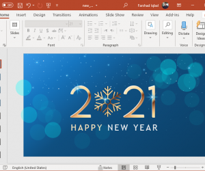 New Years Blues 2021 PowerPoint template
