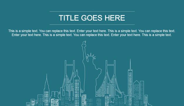 New York slide background
