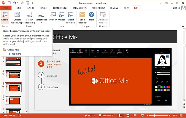 Office Mix add-in for PowerPoint