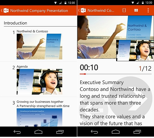 Office Remote for Android devices