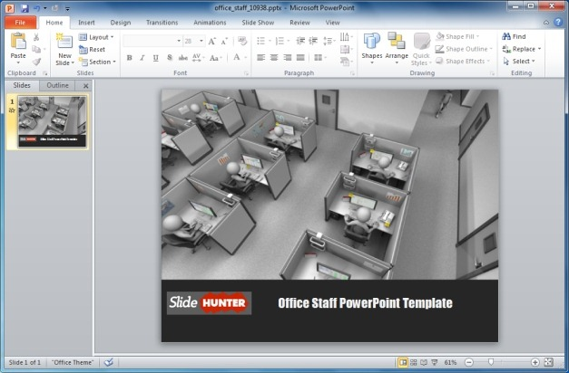 Office Staff PowerPoint Template