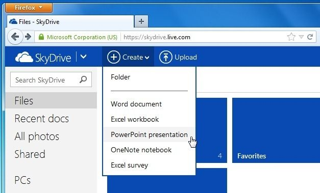 Office Web Apps Working in SkyDrive