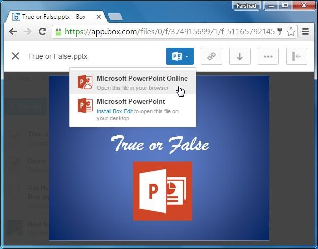 Open PowerPoint via Box