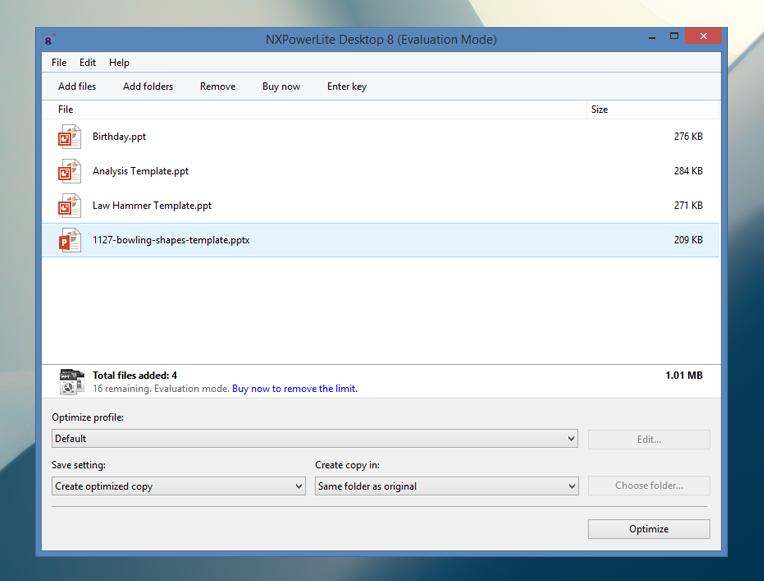 Optimize Files
