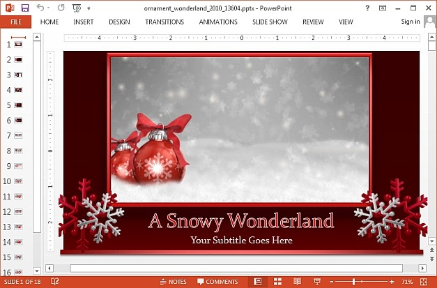 Ornament winter PowerPoint template