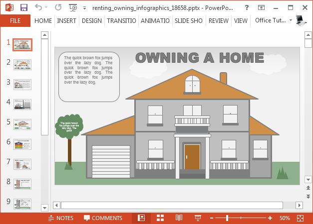 Owning renting PowerPoint template