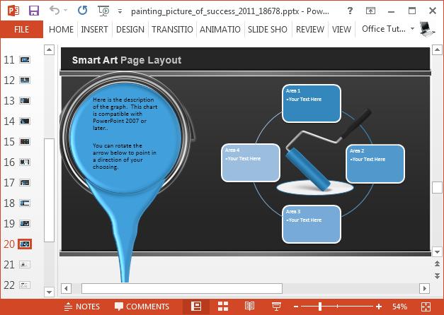 Paint themed diagram slide design