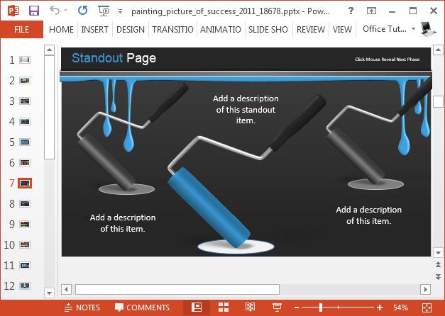 Paint themed slides