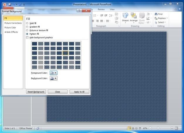 Pattern Fill Background
