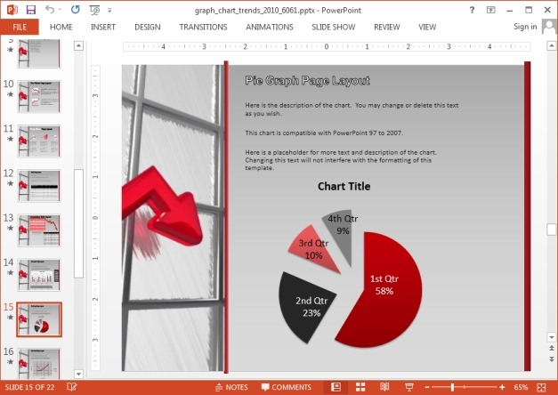 Pie chart template for PowerPoint