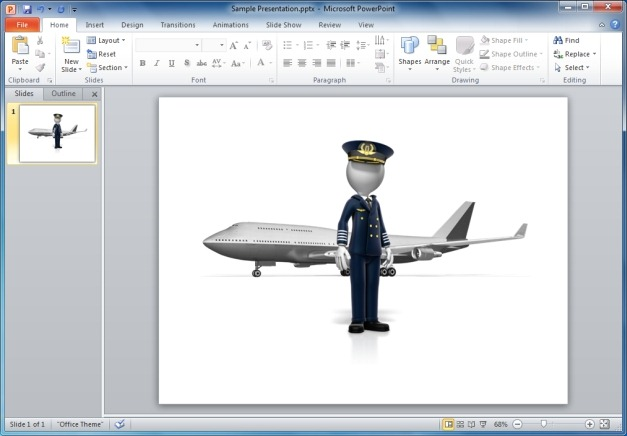 Pilot Standing In Front of Airplane