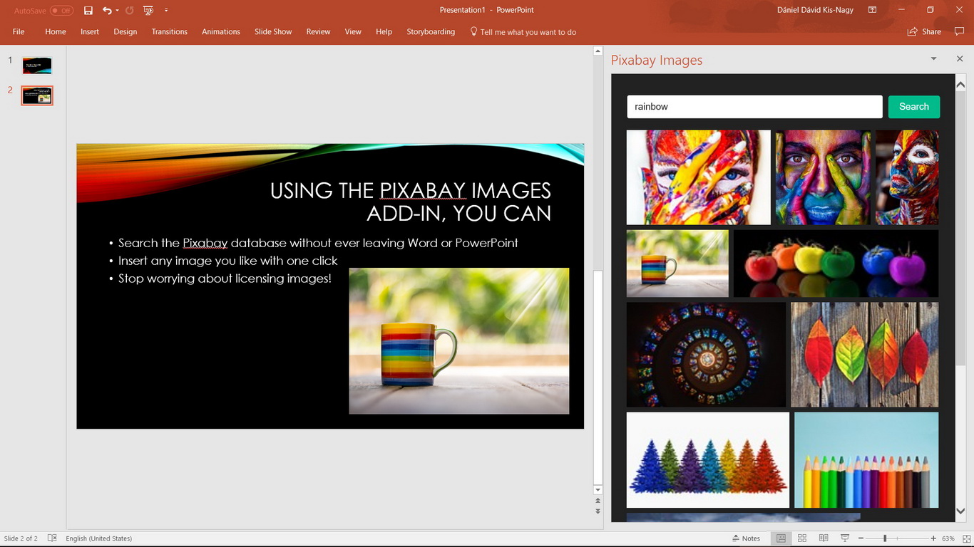 Pixabay Add-in for PowerPoint