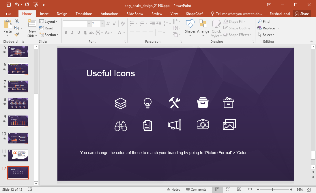 Poly Peaks Icons