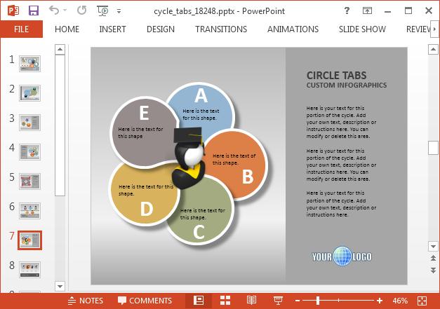 Process diagram infographics