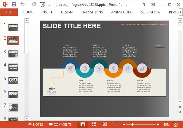 Process timeline slide design