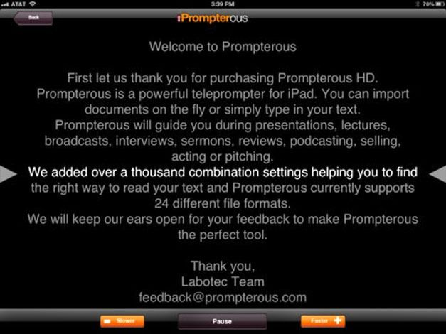 Prompterous Auto-Scroll