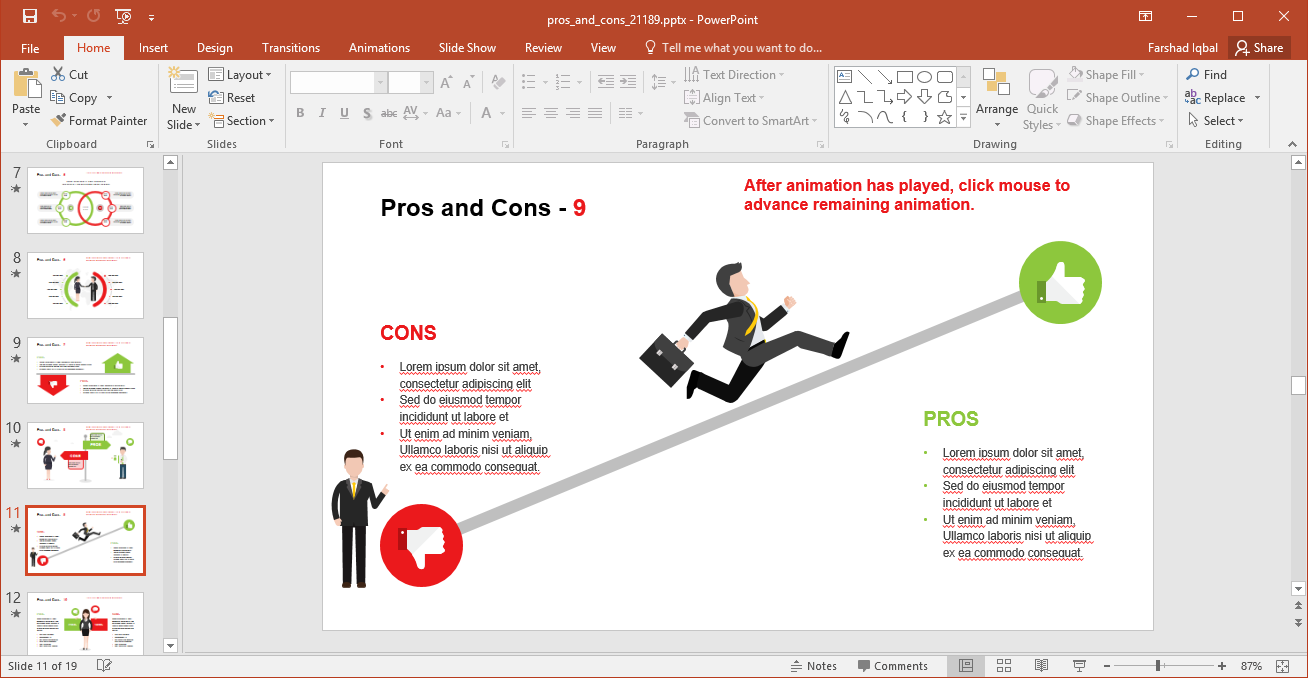 Pros and Cons Illustration