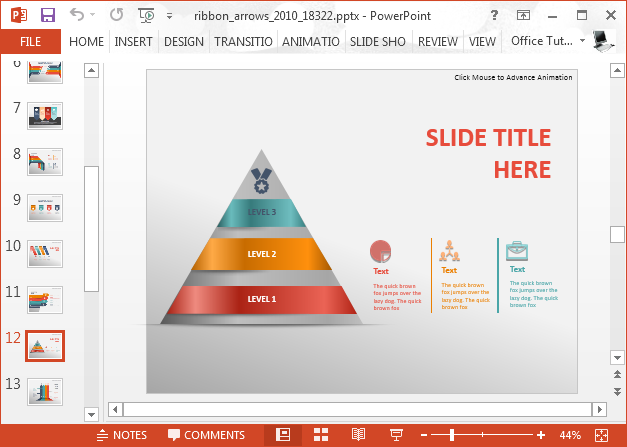 Pyramid diagram infographic