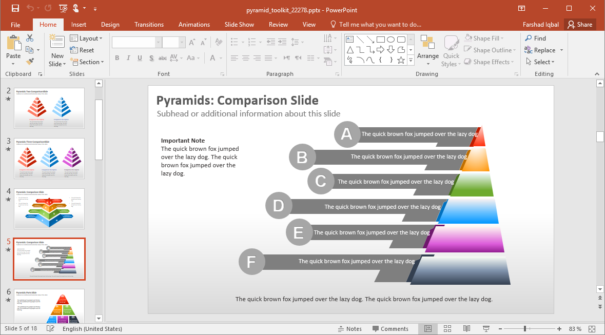 Pyramids in PowerPoint