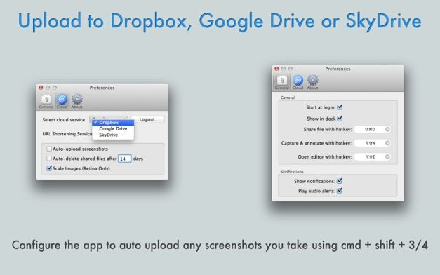 Quickly Upload Files To Dropbox, Google Drive And SkyDrive