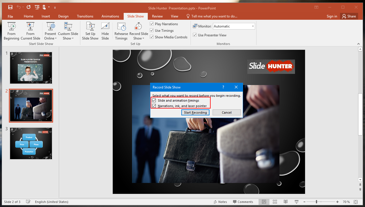 Record Narrations in PowerPoint