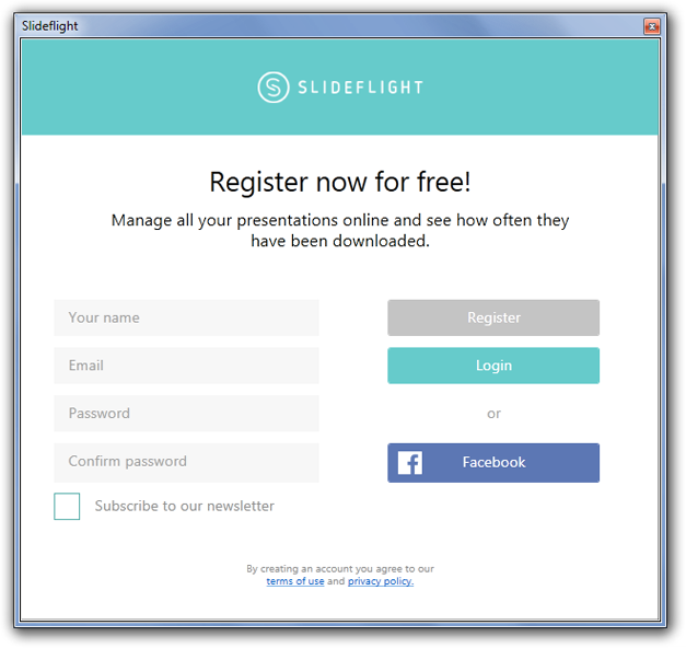 Register to login
