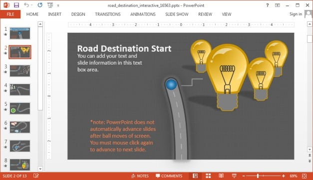 Roadmap layout for PowerPoint