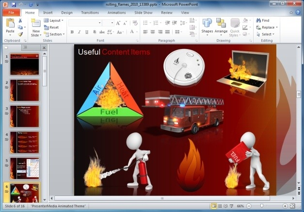 Rolling Flames Clipart