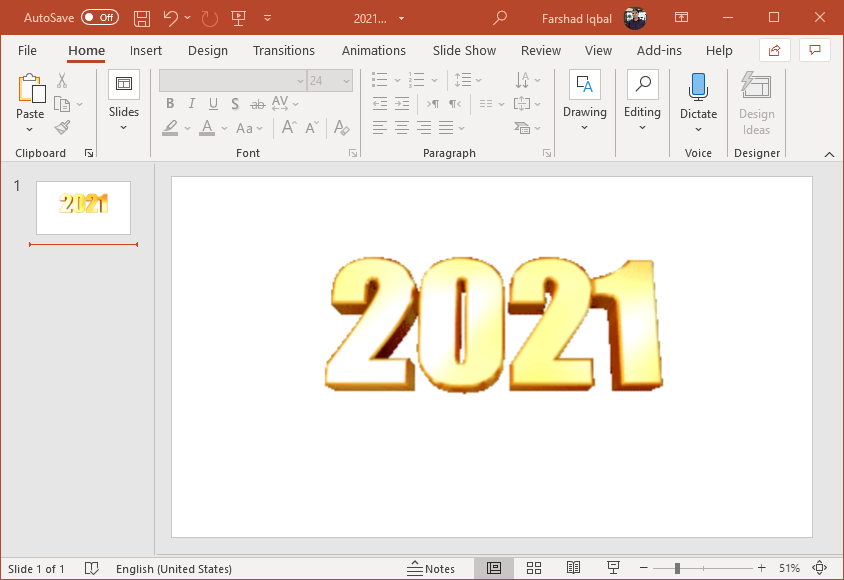 Rotating 2021 animated clipart