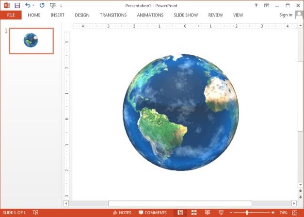 Rotating earth GIF animation