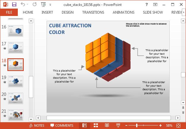 Rubik cube slide design