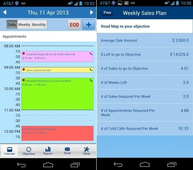 Sales Tracking Calendar app For Android