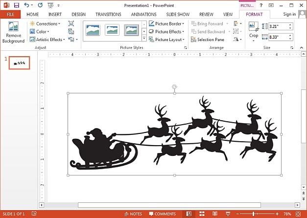 Santas reindeer sleigh Christmas clipart