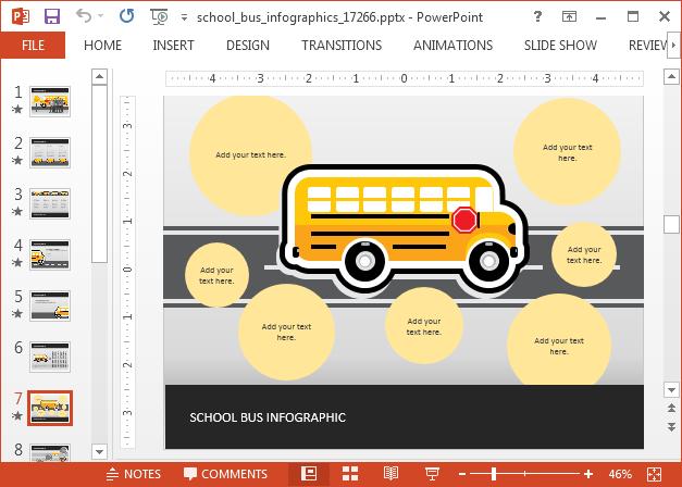 School bus diagram template