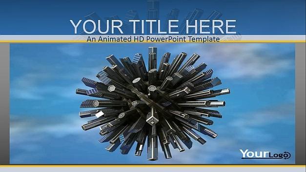 Scraper world PowerPoint template
