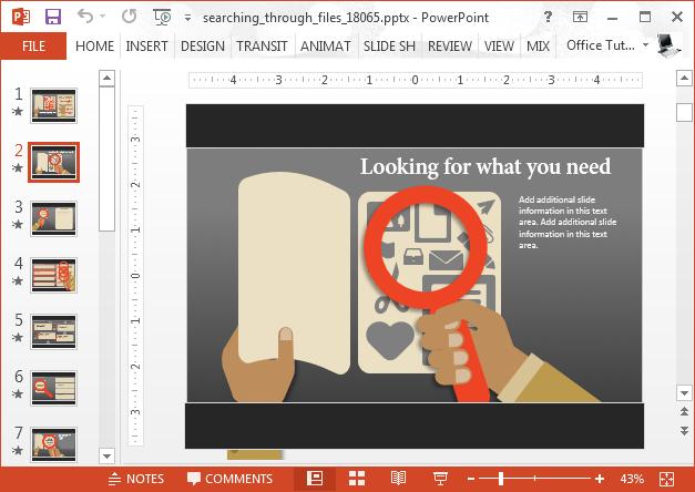 Search through files illustration