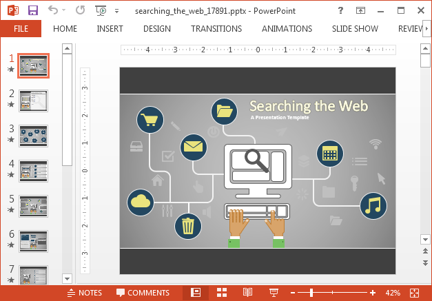 Searching the web PowerPoint template