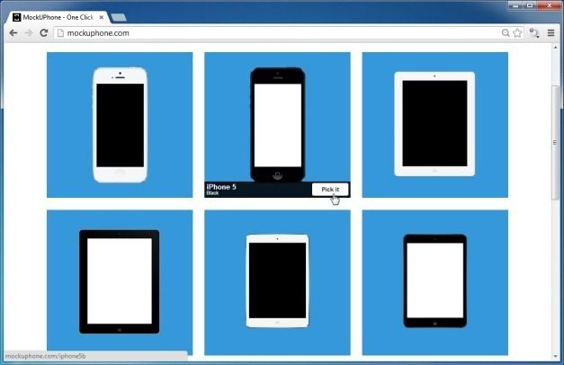 Select A Preferred Mobile Device To Create Your Mockup