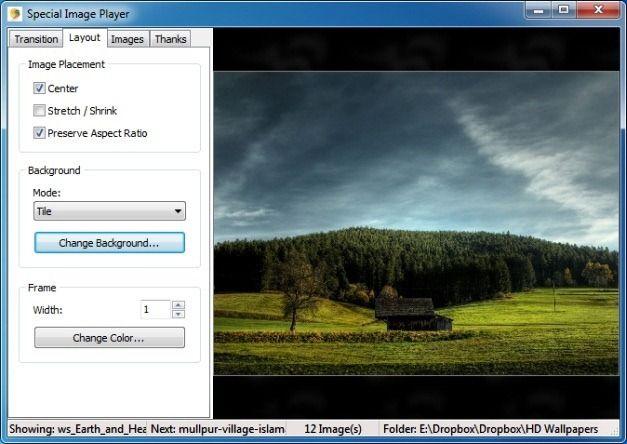 Select Slideshow Layout