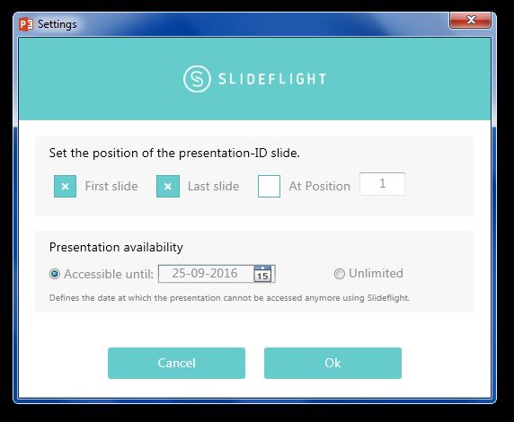 Set duration for sharing slides