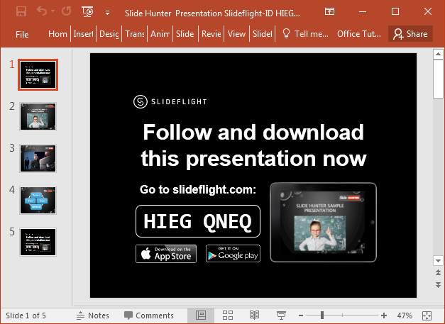 Share slides online with SlideFlight