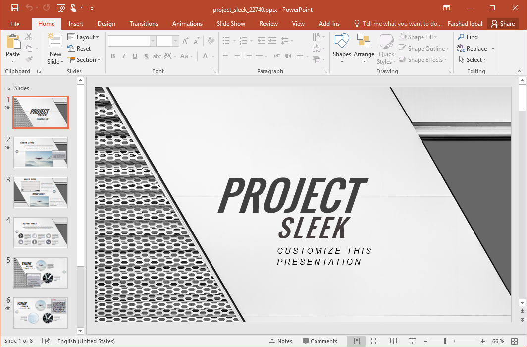 Sleek Presentation Template