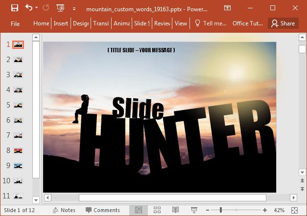 Slide hunter sample caption