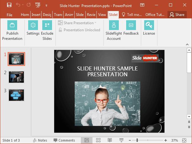 SlideFlight add-in for PowerPoint