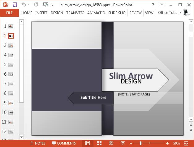 Slim arrow presentation template