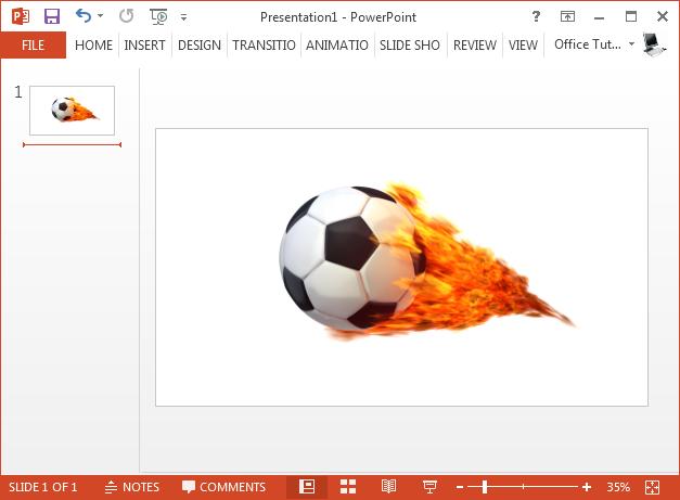 Soccer ball on fire clipart