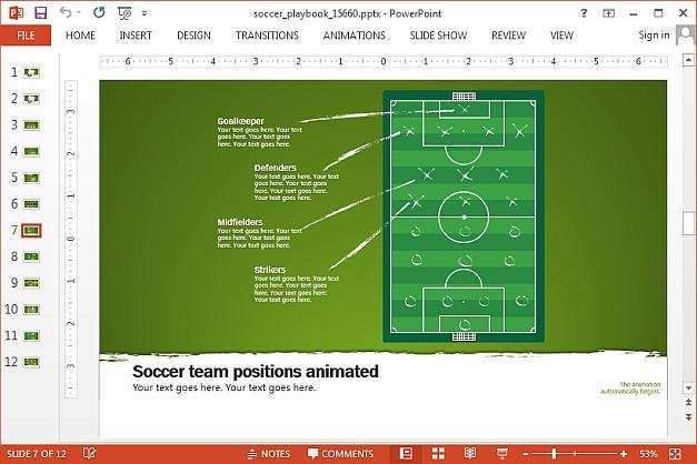 Soccer field map