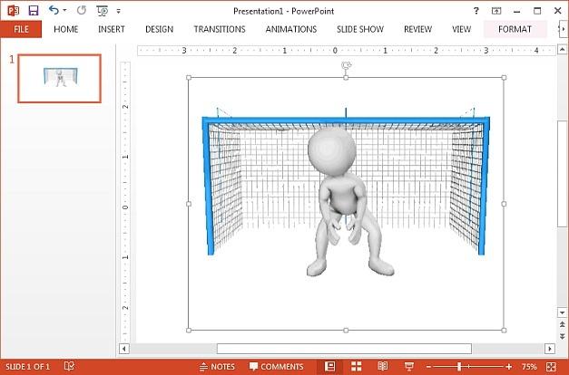 Soccer goalie GIF animation