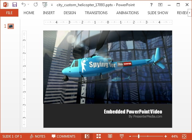Spy helicopter video background for PowerPoint